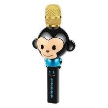 лучшая цена Bluetooth Microphone Portable Handheld Karaoke Machine Toys Gifts Singing Recording Home Ktv Party Iphone Android Pc Smartphone