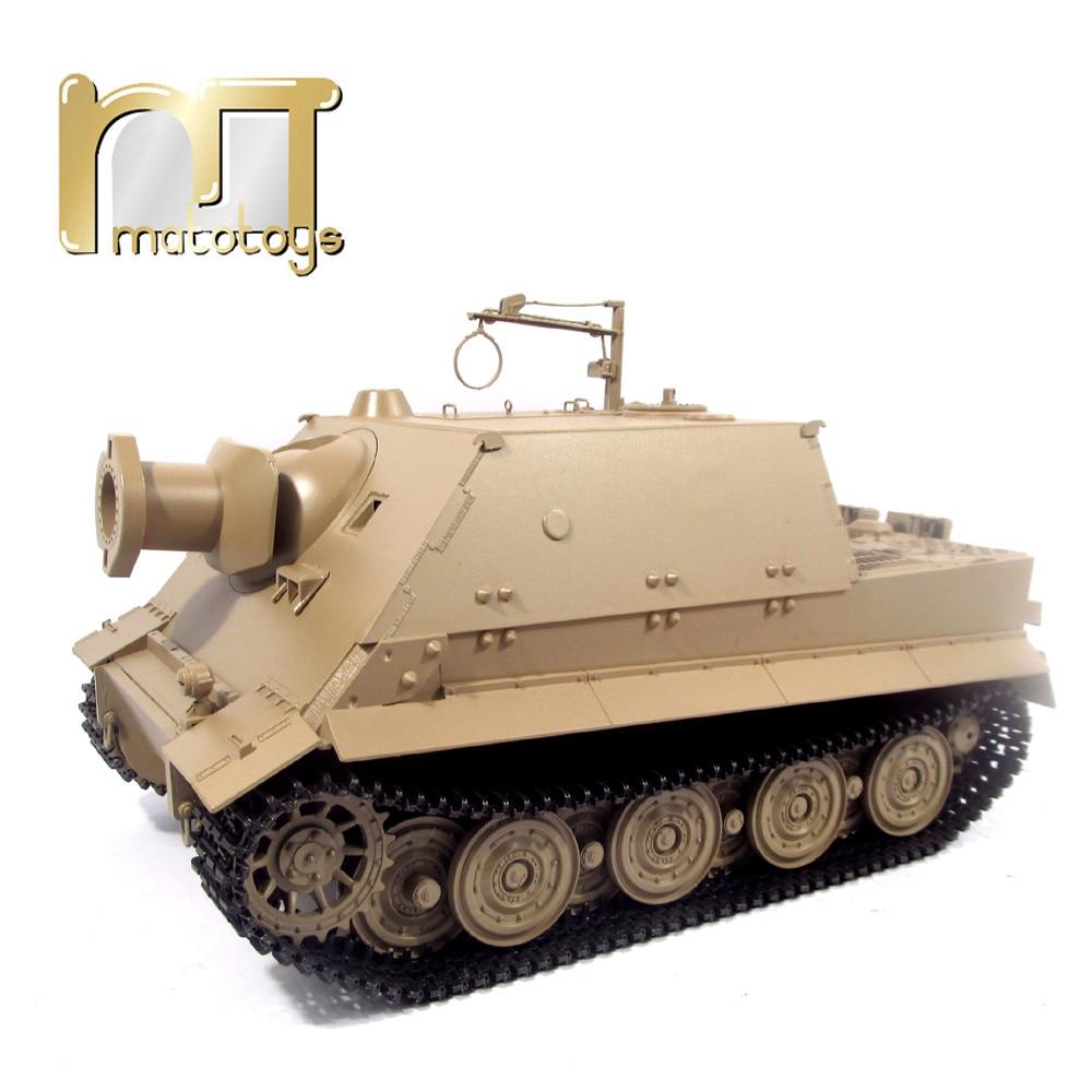 Mato 1:16 1/16 allemand Sturmtiger 6688 réservoir de radiocommande en métal coque supérieure en plastique, prêt à fonctionner, réservoir infrarouge rc