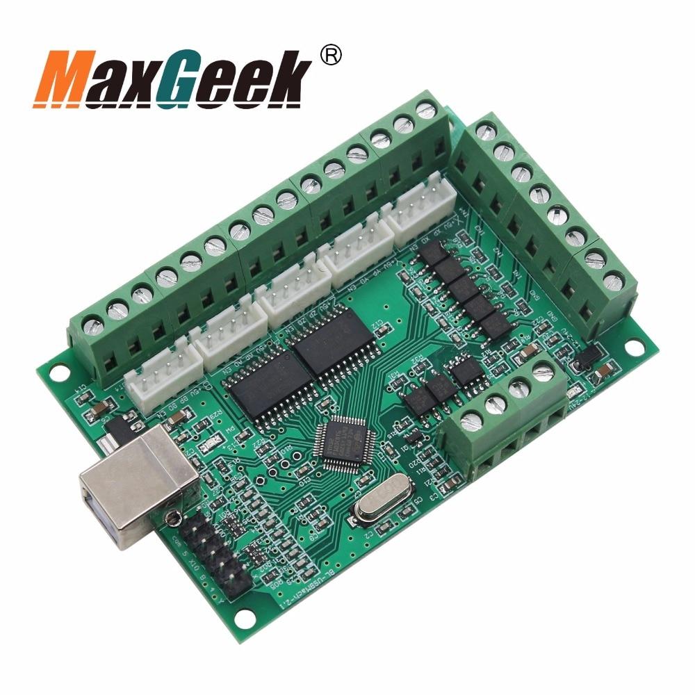 5 Axis MACH3 CNC Breakout Board Card 1000KHz USB CNC Motion Control Card Engraving Machine
