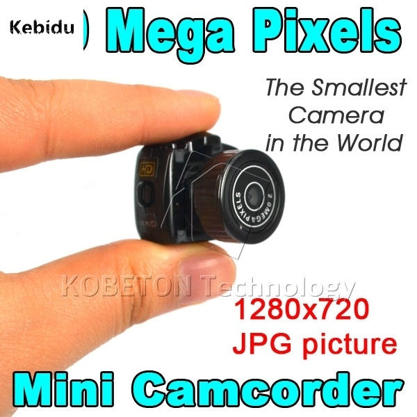 Micro Smallest Portable HD CMOS 2.0 Mega Pixel Pocket Video Audio Digital Camera Mini Camcorder 640*480 480P DV DVR 720P JPG
