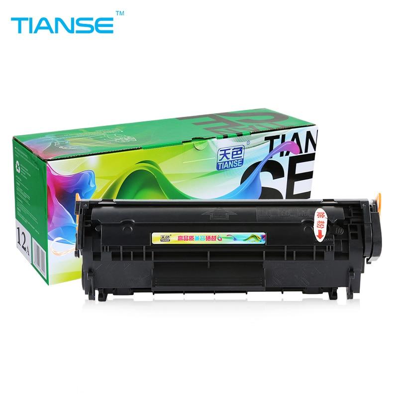 TIANSE para HP 12A Q2612A 2612A Cartucho de tóner para impresora HP - Electrónica de oficina