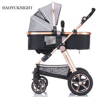 Baby stroller high landscape can be sitting can be folded folding winter and summer children's carts light baby carriages