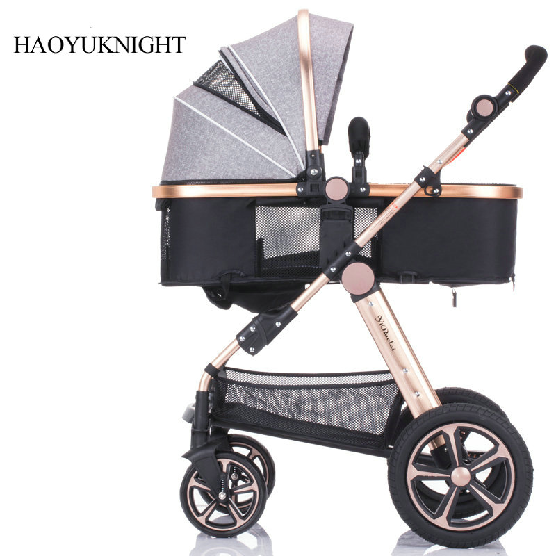 Baby stroller high landscape can be sitting can be folded folding winter and summer children's carts light baby carriages cr80 crf125 150 250 450 230f falling short handle can be folded forging horn