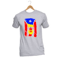 Men S Fashion T Shirt Basic Style Hip Hop O T Shirt Customized Gray Puerto Rico