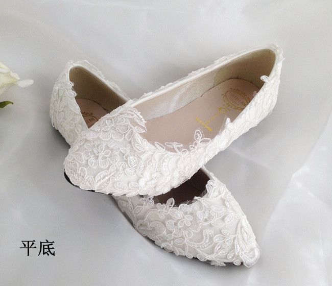 ФОТО 2017 new Handmade lace wedding shoes white red high-heeled wedding  bridal shoes white