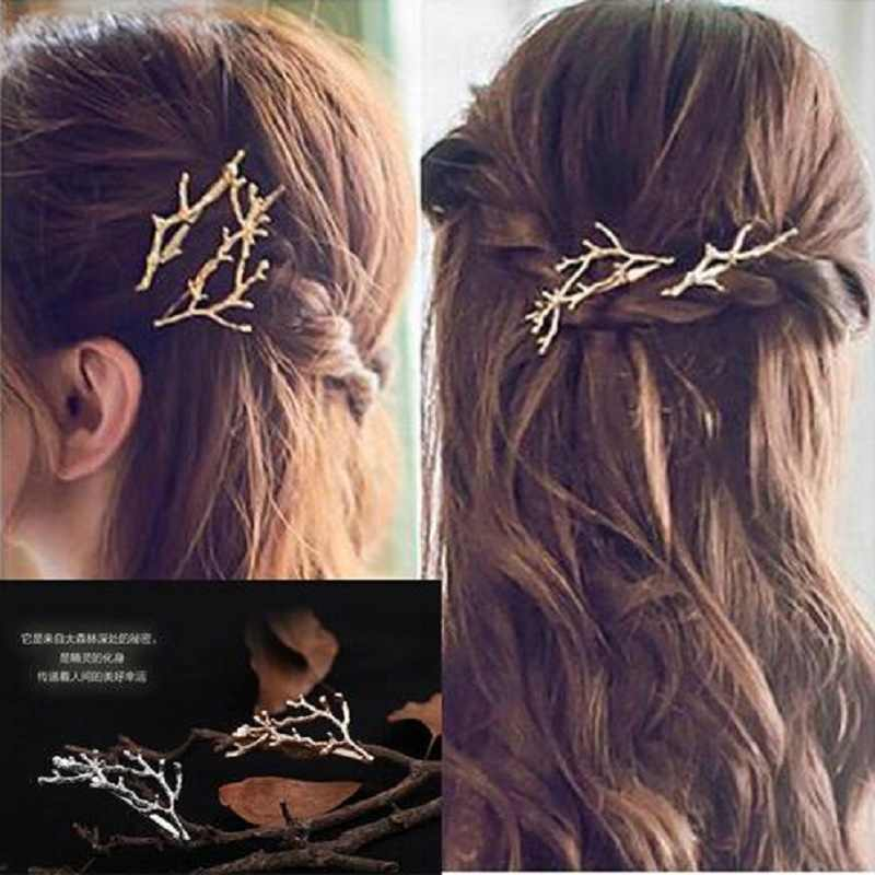 2018 jewelry Fashionable Branches Flower Geometric Hairpin Hairwear Hairband Princess Fairy Jewelry drop shipping