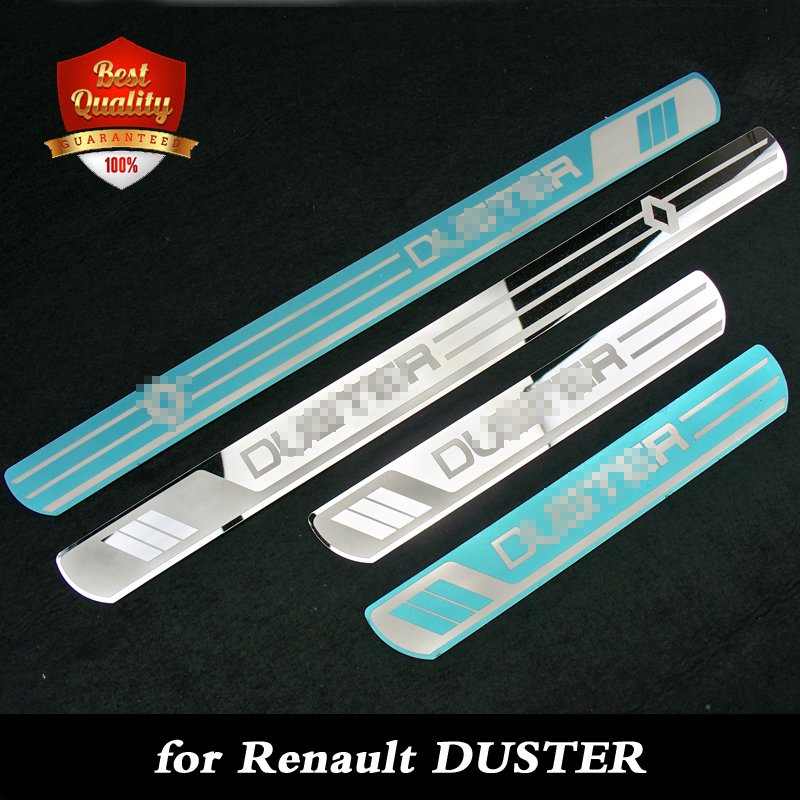 Stainless Steel Door Sill Scuff Plate fit for Renault Duster 2010-2019 Car-Styling Dual Tone Door Thresdhold Plate for Duster