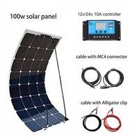 Xinpuguang 100 Вт DIY солнечной Системы комплект 100 Вт PV гибкие солнечные панели 12 В батареи 10A контроллер MC4 разъем на колесах/лодка двор power