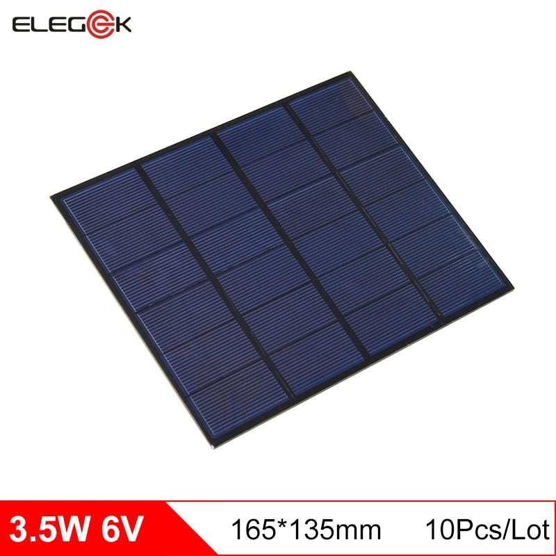 ELEGEEK 3.5W 6V 580mA Polycrystalline silicon PET Mini Solar Panel DIY Solar Module System Solar cells Battery Phone charger