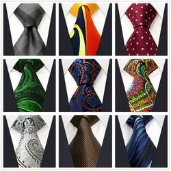 Классические мужские галстуки Красочные Пейсли бизнес модные галстуки для мужчин свадебные аксессуары
