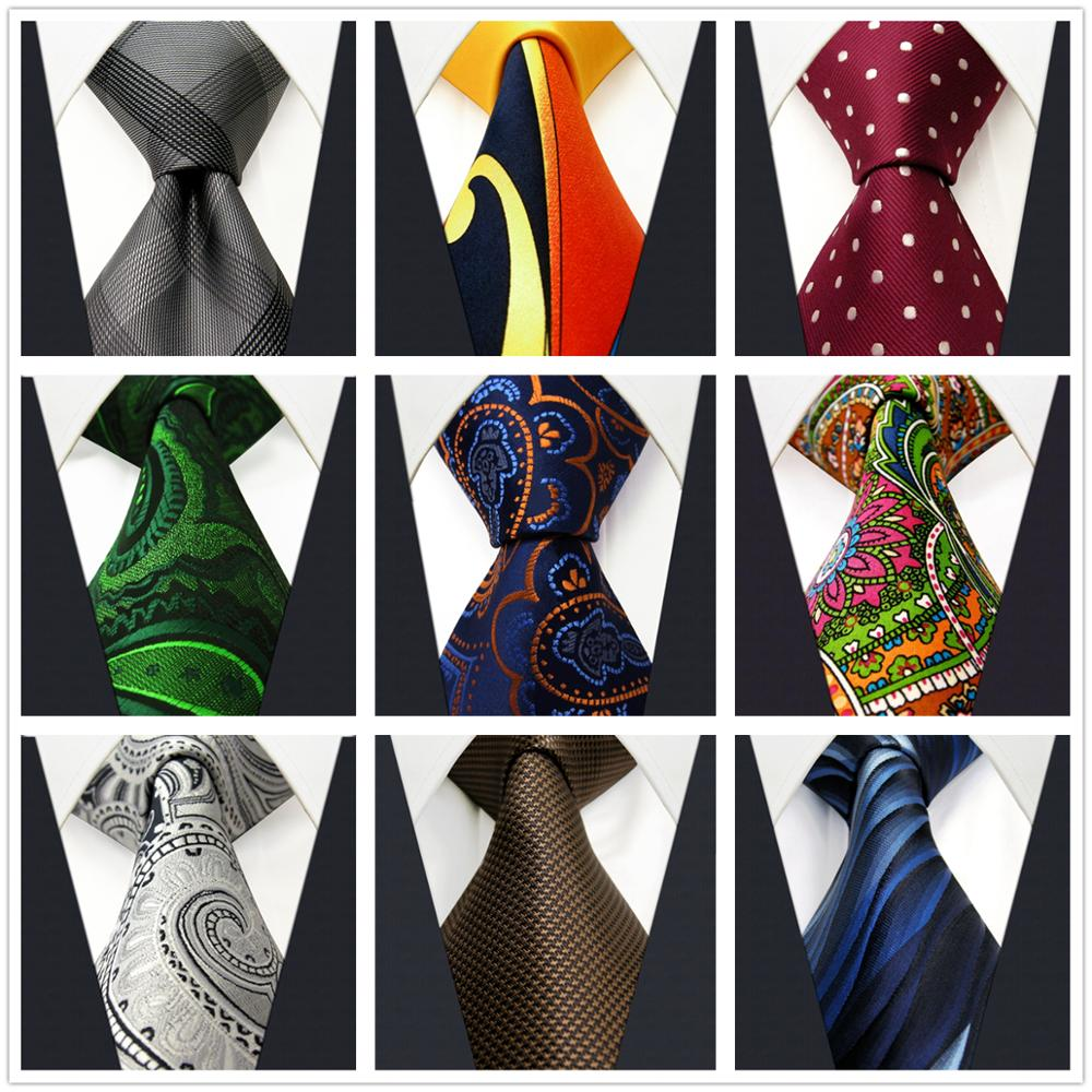 Classic Mens Neckties Colorful Paisley Business Fashion Ties For Men Accessories Wedding