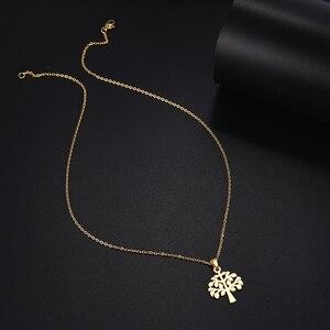 DOTIFI ожерелье из нержавеющей стали для женщин и мужчин Древо жизни золотистого и серебристого цвета ожерелье с кулоном ювелирные изделия дл...