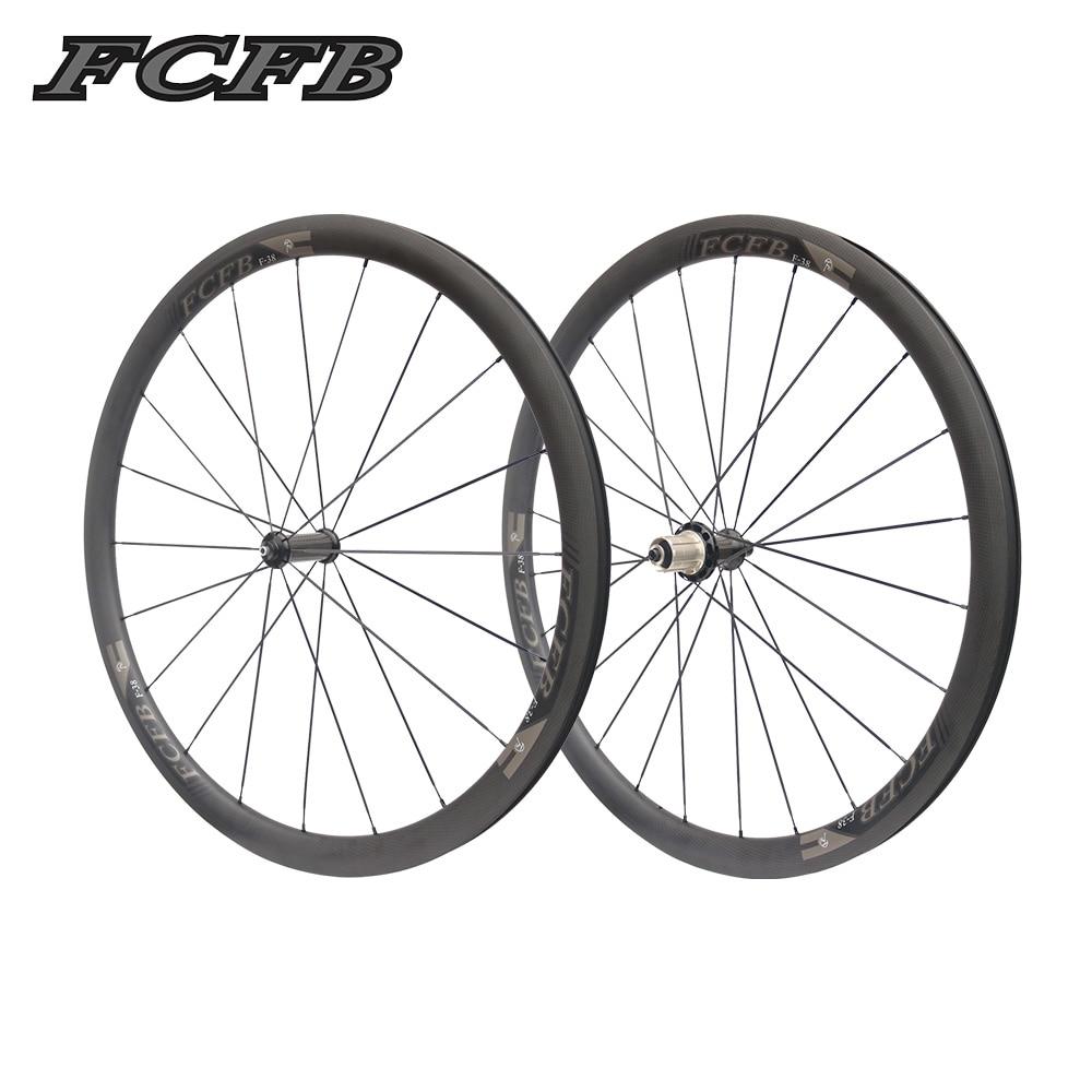 2017 FCFB route carbone wheels700C 25mm 38mm Carbone Vélo Tubulaire Roues De Vélo Super Léger Carbone Roues Roues De Course