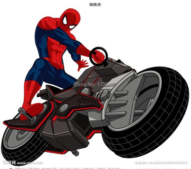 Serie superman spider man cartel estrella de cine de 100 - Spider man moto ...