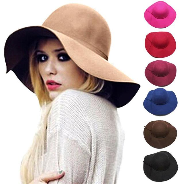 Hot England Style Solid Spring Summer Hats for Women Fashion Outdoor Large  Beach Sun Hat Candy Color Casual Woman s Caps 92249fb76a43