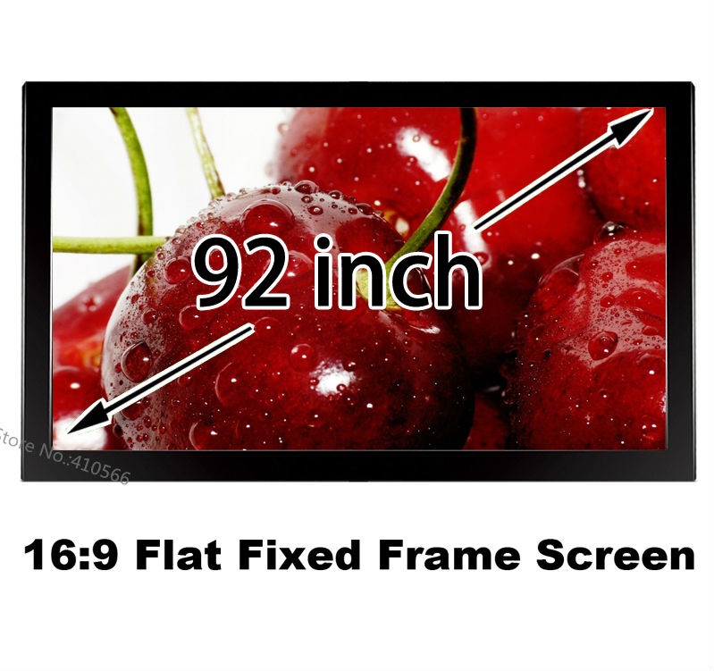Made In China Cheapest Price 92 Inch Embowed Black Fixed Frame Projection Screen 3D Cinema Movie Projector Canvas 16:9 full hd 190 inch 16 9 curved fixed frame front projection screen with 1 2 gain 3d cinema projector screens