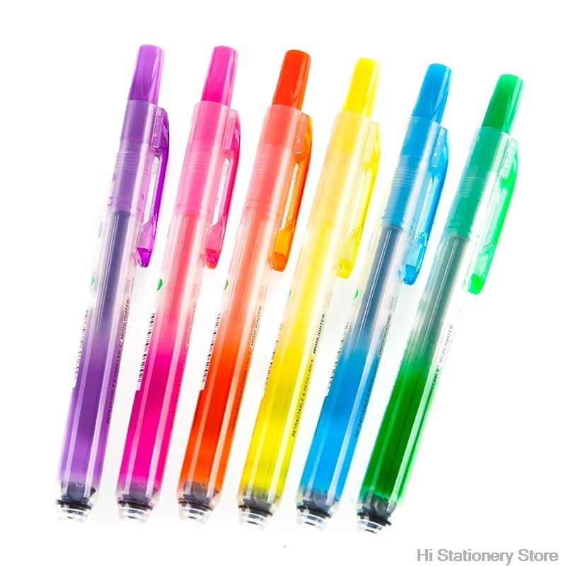 Pentel Surligneur Handy Line S SXS15 pressing style highlighter pen retractable neon pen 6 Colors pentel slicci