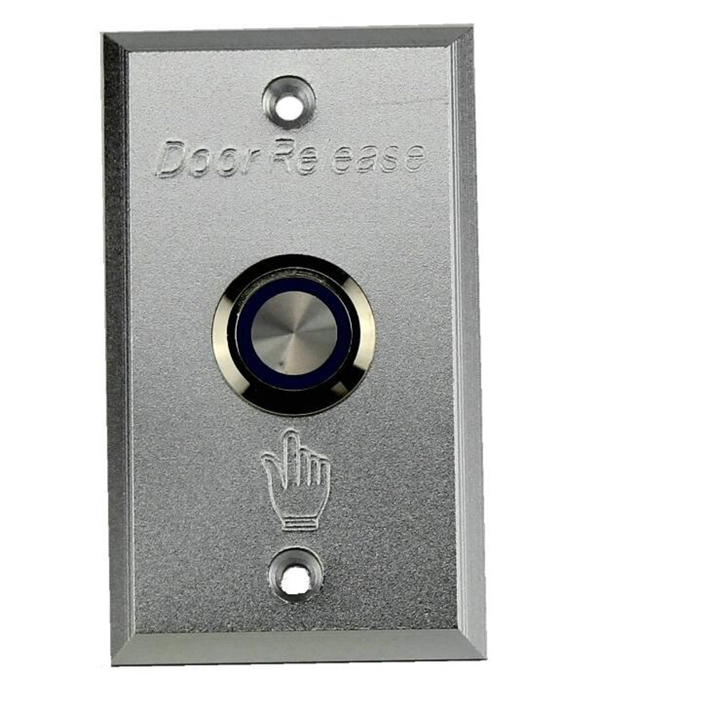 Durable Aluminum Alloy Push Button Switch Exit Button Door Release with Blue Backlight LED for Access Control stainless steel rectangle exit push release button switch for electric magnetic lock door access control
