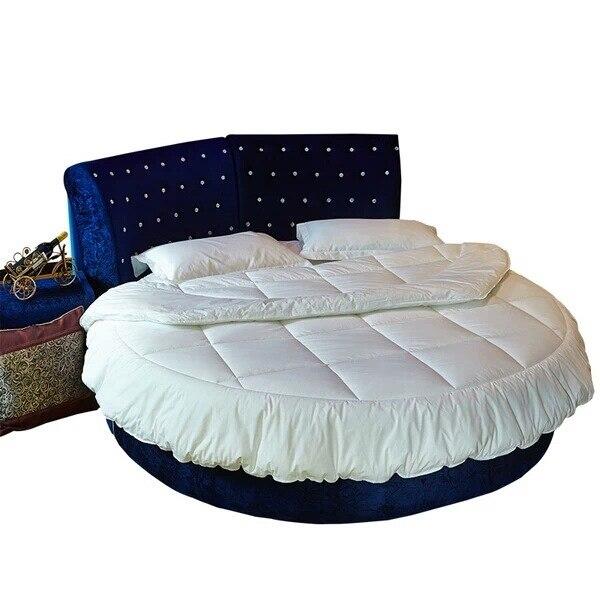 1 Stücke Reiner Baumwolle Runde Betten 220x220 Runde Bettdecke