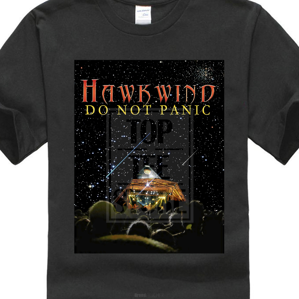 Hawkwind Do Not Panic Psychedelic Rock Band Hawklords T Shirt Tee S M L Xl 2Xl