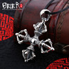 Beier New Store 100 925 Thai Silver Sterling Cross Pendant Necklace Trendy Fashion Jewelry Free Give