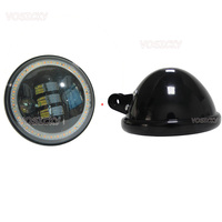 5.75 LED Headlight High Low Beam LED 5.75 inch Headlamp Driving Light with Angel Eyes for Har ley Da vidson Motorcycle