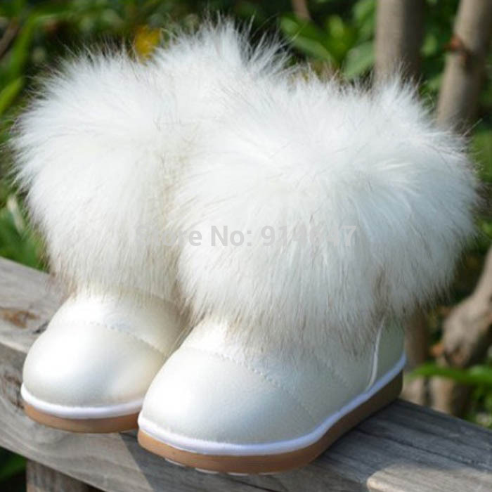 Aliexpress.com : Buy 2016 Winter White Fur Snow Boots For Girls ...