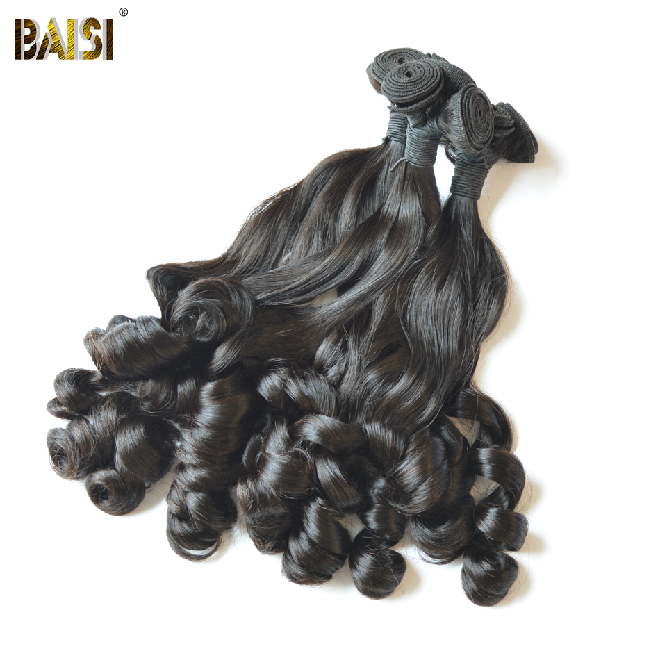 BAISI Hair Weave rebondissant Curly Remy Funmi extension de cheveux - Cheveux humains (noir) - Photo 2