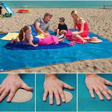 2019 New Solid Anti-Slip Rug Portable Sand Beach Mat Quick Dry Summer Beach Blanket Foldable Dust Shelter Dropshipping