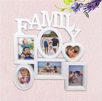 Новые фоторамки на стену Рамка 6 отверстий семейная подвесная рамка для картин фоторамка для Подарочное настенное украшение для семьи
