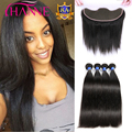 8A 13x4 Ear To Ear Lace Frontal Closure With 3 Bundles Brazilian Straight Hair With Closure Brazilian Virgin Hair With Frontal