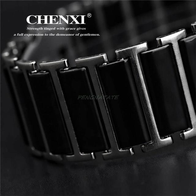 CHENXI NEW Fashion Women Watches Men Top Brand Luxury Wristwatch Man Female Quartz clock Ceramic waterproof Watches Montre Femme