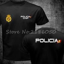 Espana policja hiszpania policja narodowa Espana policja Cnp Uip Upr anty zamieszek Swat Geo idzie sił specjalnych mężczyzn T-shirt fajne topy