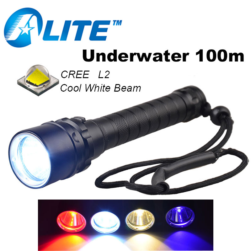 [Free Ship] 1800LM CREE XML-T6 LED Lanttern Waterproof underwater scuba Diving 18650 Flashlight Dive Torch light lamp for diving 4500lm 4cree xml t6 led lanttern waterproof underwater scuba dive diving flashlight torch light lamp for diving by 26650 battery
