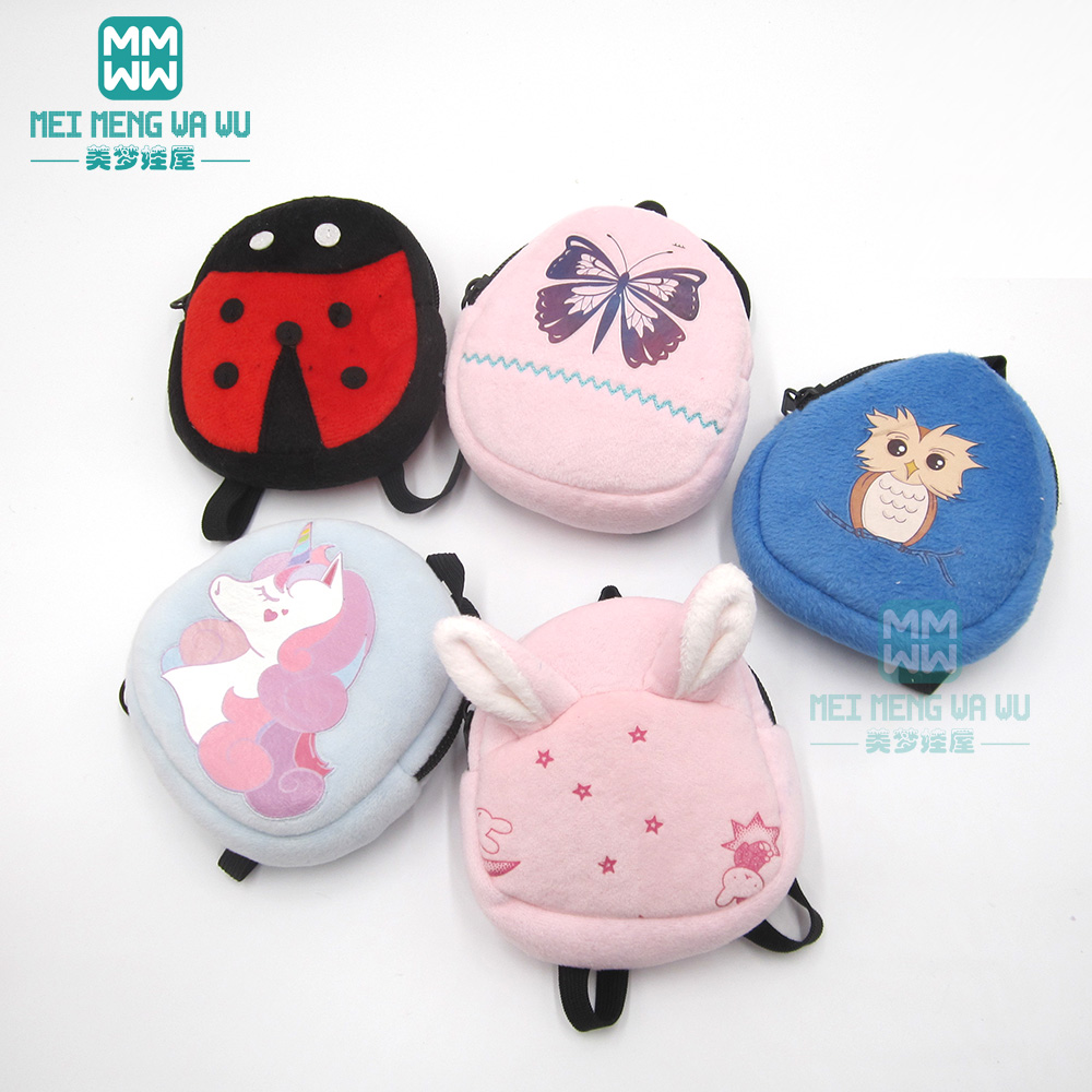 Accessories For Doll Fit 43 Cm Toy New Born Doll Baby Fashion Cartoon Backpack
