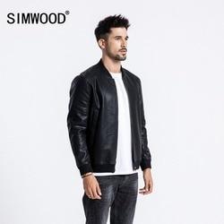 SIMWOOD Winter Neue Bomber Leder Jacke Männer Mode Warme Fleece Casual Oberbekleidung Klassische Mäntel Hohe Qualität Kleidung 180558