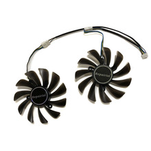 2pcs set ZOTAC GeForce GTX 1070 Ti AMP Edition GPU VGA Cooler Fan For GeForce GTX