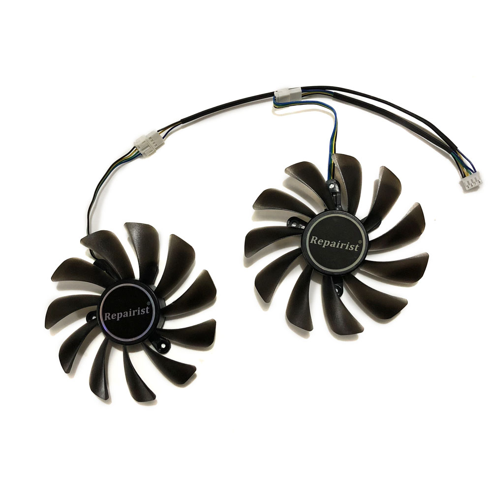 2pcs/set ZOTAC GeForce GTX 1070 Ti AMP Edition GPU VGA Cooler Fan For GeForce GTX 1070Ti AMP Core Video Cards As Replacement image