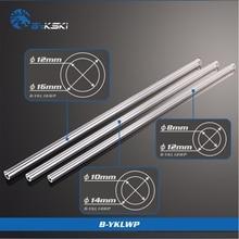 2 шт./лот BYKSKI PMMA/PETG жесткая трубка (OD12mm/OD14mm/OD16mm) + 2 мм толщина + 50 см длина Прозрачная Жесткая труба