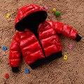 Moda 2016 Algodón de Los Niños Outwear Niños Y Niñas Abrigo de Invierno Los Niños Ropa de Bebé de Invierno Espesan la Chaqueta de Algodón acolchado