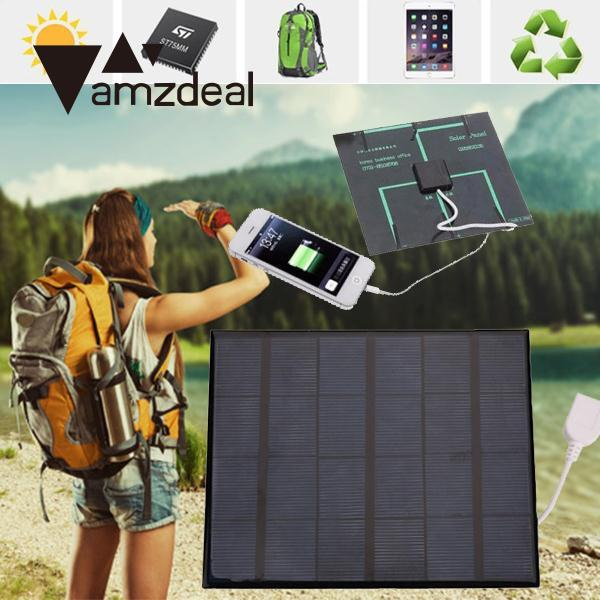 Mini 6V 3.6W Outdoor USB Solar Panel Battery Charger For Android Mobile Phone Solar Cells Solar Panel