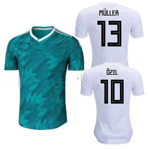 Deutschland Camisetas alemanas 2018 World National team Fuera de casa - Disfraces
