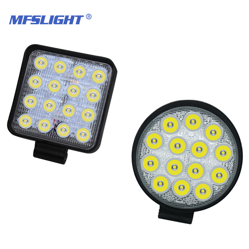 MFSLIGHT 42 48w <font><b>Work</b></font> <font><b>16</b></font> <font><b>LED</b></font> spot <font><b>light</b></font> Working <font><b>Light</b></font> Bar <font><b>Led</b></font> Driving Lamp <font><b>Lights</b></font> for trucks forklifts off-road vehicles image