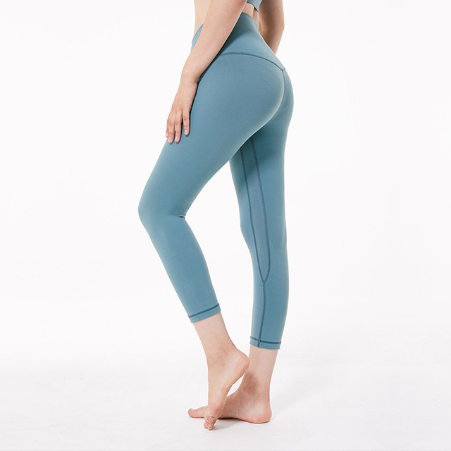 e68de2c6fa423 Super Stretchy Cropped Yoga Pants Women High Waisted Workout Leggings Gym  Activewear Athletic Capris Squat Proof Exercise Tights