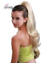 StrongBeauty Blonde Lange Golvende Dual Gebruik Klauw Clip Paardenstaart Haarstukje Hair Extensions 26 inch Synthetische Warmte Weerstaan