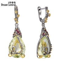 DreamCarnival 1989 New Water Drop Cubic Zircon Earrings For Women Copper Dangle Earings Fashion Accessories Gift Hot Pick WE3876