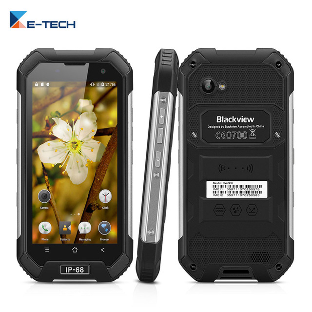 """Blackview BV6000 Smartphone 4.7"""" HD MT6755 Octa Core 4G LTE Waterproof IP6 Android 6.0 3GB RAM 32GB ROM 13MP Cell Phone"""