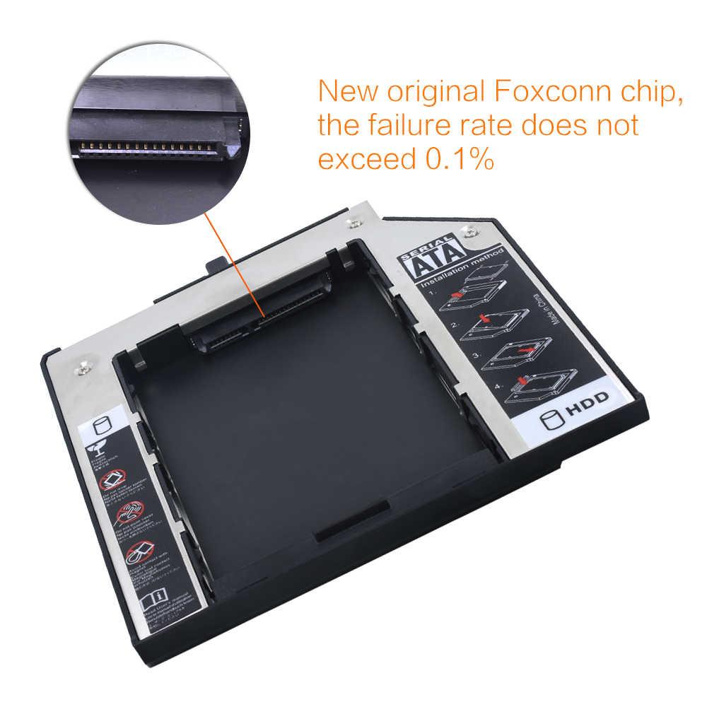 "עבור Lenovo ThinkPad T420s T430s T500 W500 T400 T400s T410 T410s אלומיניום 2nd HDD Caddy 9.5mm SATA3.0 2.5"" SSD HDD מארז"