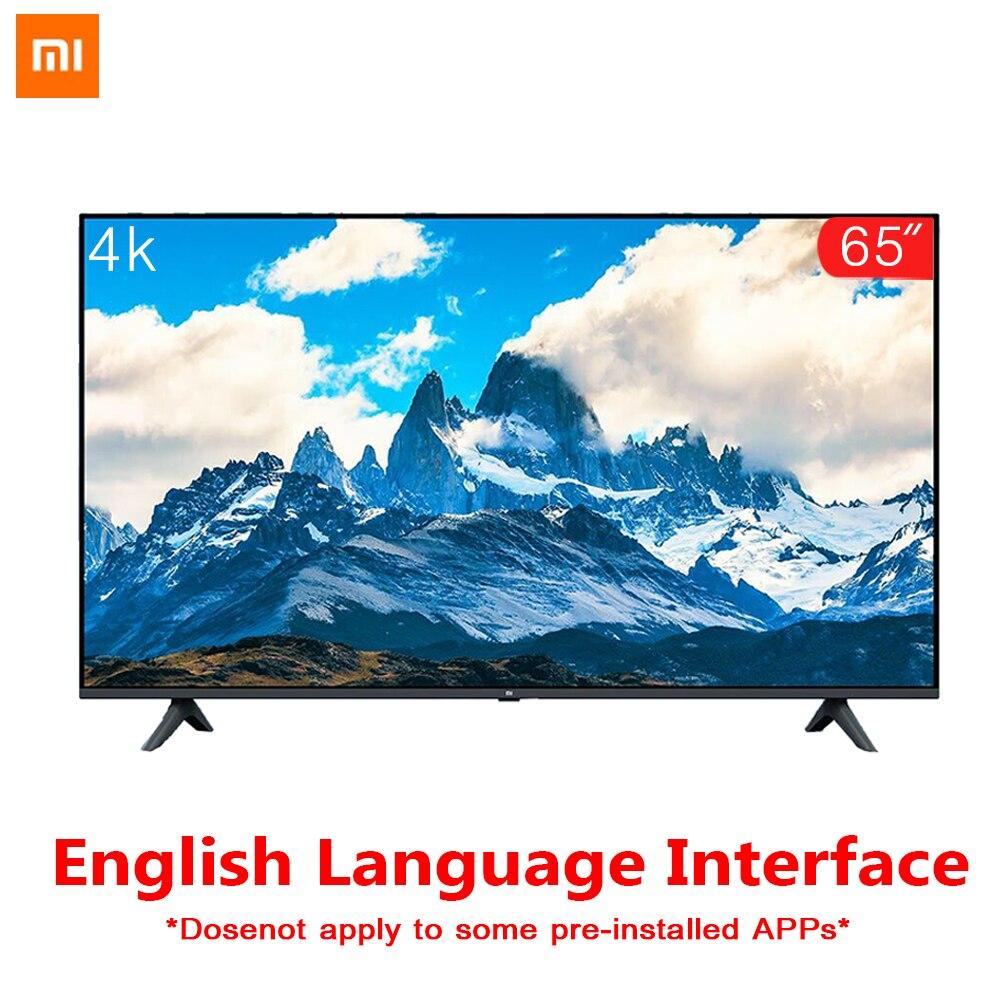 Original Xiaomi Tv 65 pouces E65A réel 4 K sans marge plein écran TV ensemble 2 GB + 8 GB mémoire antistatique AI commande vocale Dolby Sound