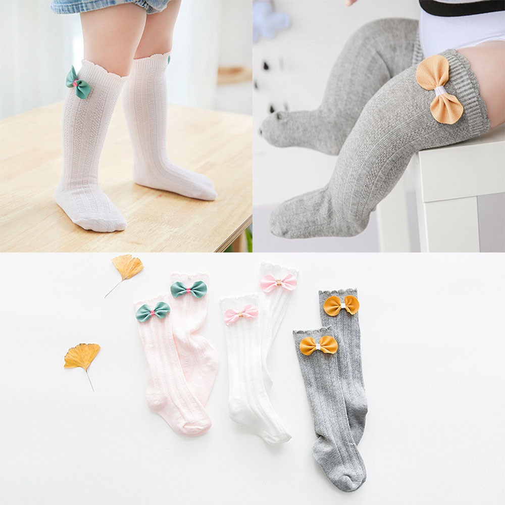 CHAMSGEND socks for newborns 1 Pairs Cotton Cute Bow Medium Socks for Newborn Baby Boys Girls Toddler Kids DROP SHIPPING APR16HY ...